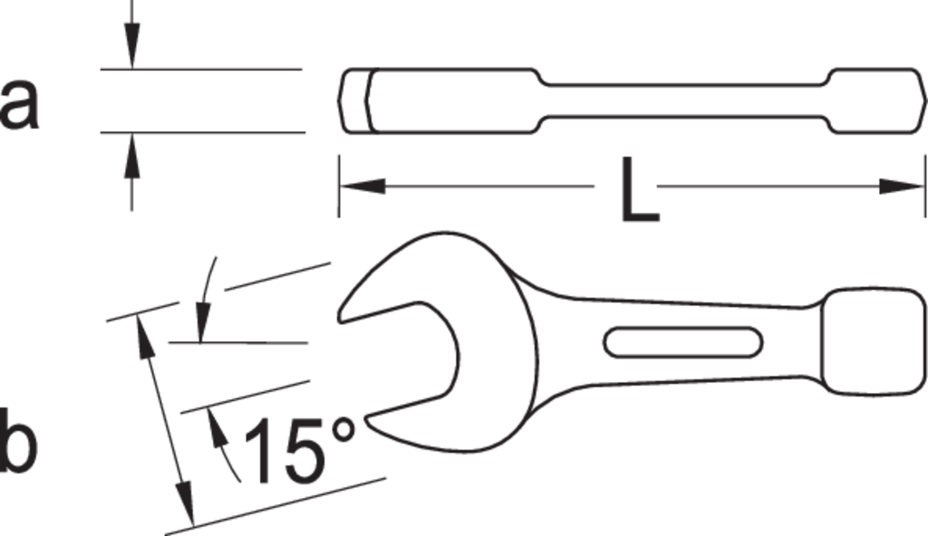 Slogging Open End Spanner 65 mm BGS 35265