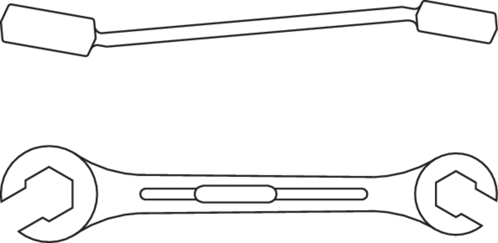 Ausf/ührung nach DIN 837 verchromt mit UD-Profil Form B GEDORE 4 6x7 Doppelringschl/üssel mit d/ünnwandigen Ringen 6x7 mm gerade flach