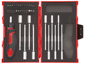 "Tool set T-handle with ratchet 1/4"" - 3300025"