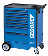 Tool trolley with safe locking drawers - 2827360