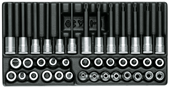 "Screwdriver bit socket set 3/8"" - 1640860"