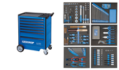 Trolley with 190-pts tool assortment - 2980290