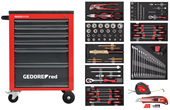 Workshop trolley MECHANIC red with tool set - 3301667