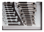 Tool set ratchet wrenches, open-ended spanners - 3301687