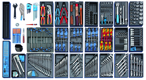 Tool trolley with 325-piece tool assortment - 2657716 (2)
