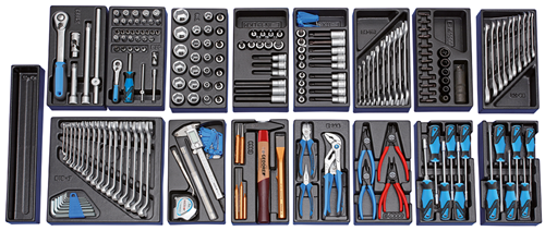 Tool trolley with 207-piece tool assortment - 2657708 (2)